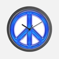 peaceGlowBlue Wall Clock