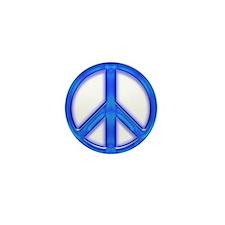 peaceGlowBlue Mini Button