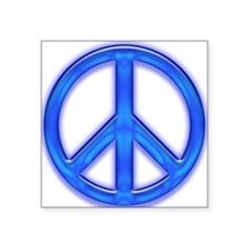"peaceGlowBlue Square Sticker 3"" x 3"""