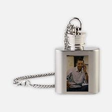 ART obama iphone slider 4 case v2 Flask Necklace