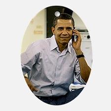 ART obama iphone slider 4 case v2 Oval Ornament
