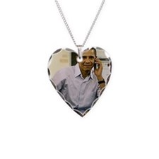ART obama iphone slider 4 cas Necklace