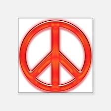 """peaceGlowRed Square Sticker 3"""" x 3"""""""