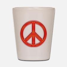 peaceGlowRed Shot Glass