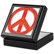 peaceGlowRed Keepsake Box