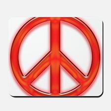 peaceGlowRed Mousepad