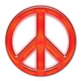 Art for peace Round Car Magnets