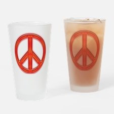 peaceGlowRed Drinking Glass