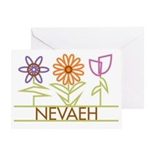 NEVAEH-cute-flowers Greeting Card
