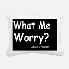 Mad what me worrydbutton Rectangular Canvas Pillow
