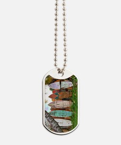 Lined Up Ashore Dog Tags