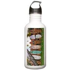 Lined Up Ashore Water Bottle