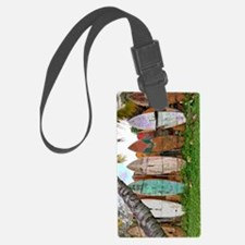 Lined Up Ashore Luggage Tag