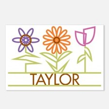 TAYLOR-cute-flowers Postcards (Package of 8)