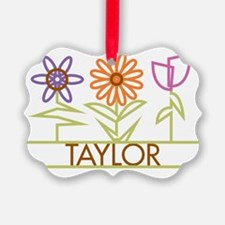 TAYLOR-cute-flowers Ornament