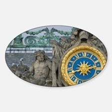 France, Versailles, statue and cloc Sticker (Oval)