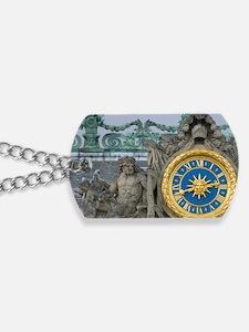 France, Versailles, statue and clock deta Dog Tags