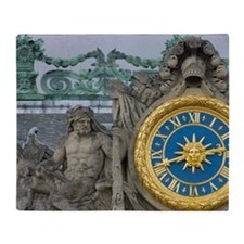 France, Versailles, statue and clock Throw Blanket