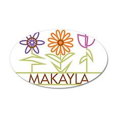 MAKAYLA-cute-flowers 35x21 Oval Wall Decal
