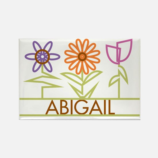 ABIGAIL-cute-flowers Rectangle Magnet