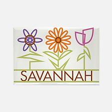 SAVANNAH-cute-flowers Rectangle Magnet