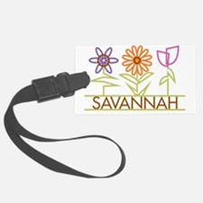 SAVANNAH-cute-flowers Luggage Tag