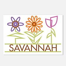 SAVANNAH-cute-flowers Postcards (Package of 8)