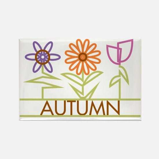 AUTUMN-cute-flowers Rectangle Magnet