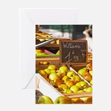 Market stalls with fruits and vegeta Greeting Card