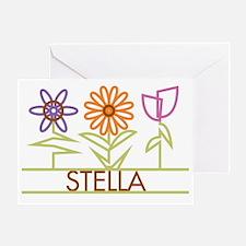 STELLA-cute-flowers Greeting Card