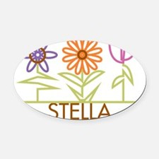 STELLA-cute-flowers Oval Car Magnet