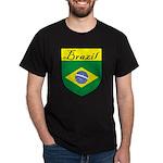 Brazil Flag Shield Dark T-Shirt