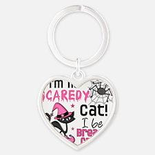 - Halloween 2 Breast Cancer Survivo Heart Keychain