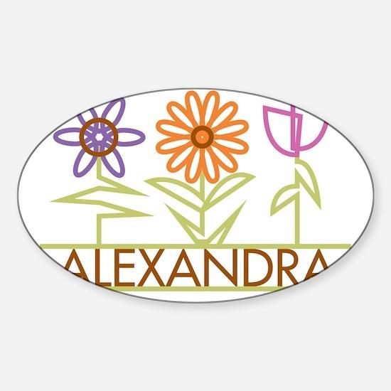ALEXANDRA-cute-flowers Sticker (Oval)