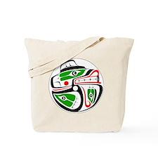 bear-salmon-outerline Tote Bag