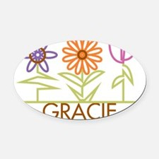 GRACIE-cute-flowers Oval Car Magnet