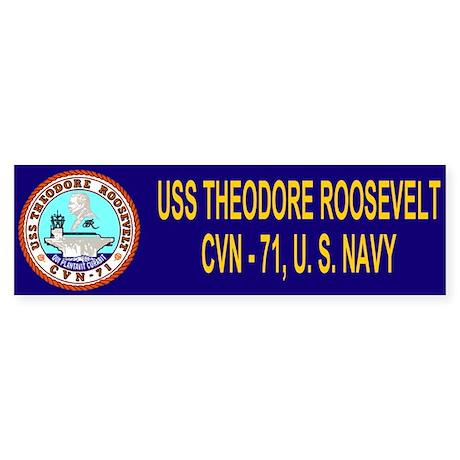 USS Theodore Roosevelt<BR>Bumper Sticker