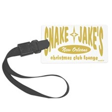 blkgoldSnake  Jakes tee Luggage Tag
