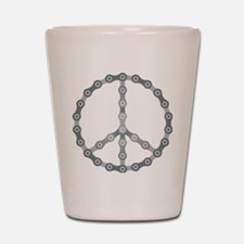 peace chain drk Shot Glass