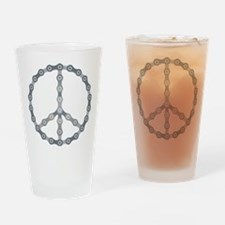 peace chain drk Drinking Glass