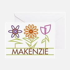 MAKENZIE-cute-flowers Greeting Card