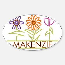 MAKENZIE-cute-flowers Sticker (Oval)