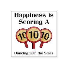 "Happiness10 Square Sticker 3"" x 3"""