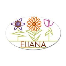 ELIANA-cute-flowers 35x21 Oval Wall Decal