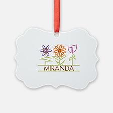 MIRANDA-cute-flowers Ornament