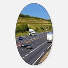 Autos travel on the motorway A84 so Decal