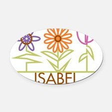 ISABEL-cute-flowers Oval Car Magnet