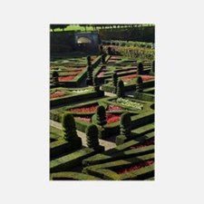 Garden at the Chateau of Villandr Rectangle Magnet
