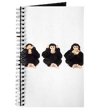 Hear, See, Speak No Evil Monkey Journal
