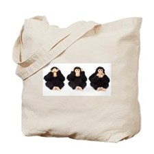 Hear, See, Speak No Evil Monkey Tote Bag